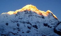 Mount Annapurna as seen from Base Camp