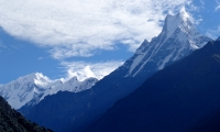 Mount Fishtail on the way