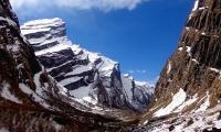 The massif mountains as you get close to the base camp