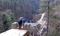 Suspension Bridge on the way to Namche