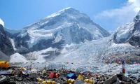 The settlement at Base Camp