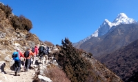 Ama dablam on the taril to Tengboche