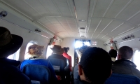 On board to lukla