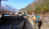 walking the tiny himalaya village