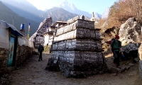 Mane Stone on the way to Namche