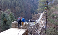 Suspension Bridge on the way to Namche
