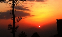 Sunrise as seen from Nagarkot