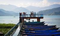 Panorama of phewa lake