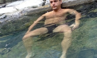 Relaxing at Jhinu Hot Spring