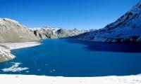 Tilicho lake in winter