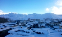 Snow-covered-Mustang-Village